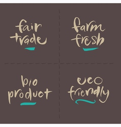 FairTrade Farm Bio Eco Food Labels vector image