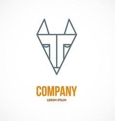 Fox design logo vector image