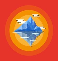 Geometric abstract iceberg vector