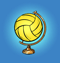 globe international volleyball ball sports vector image