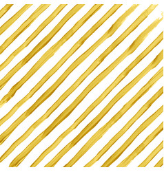 Golden watercolor striped background vector