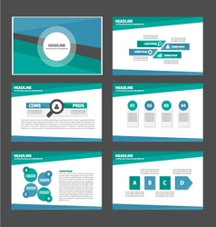 Green and blue presentation templates Infographic vector image