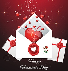 greeting card for Valentines Da vector image