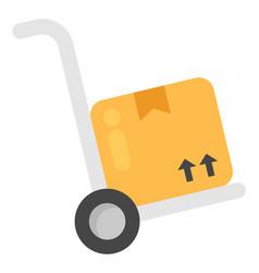 Hand cart vector