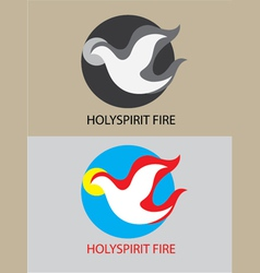 Holyspirit fire icon vector image