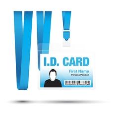 Id card man blue vector