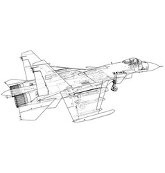 jet fighter military aircraft vector image