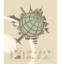 landmarks around world vector image