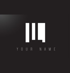 Ll letter logo with black and white negative vector