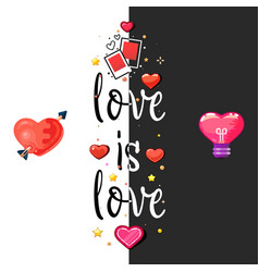 Love is t-shirt poster tag vector