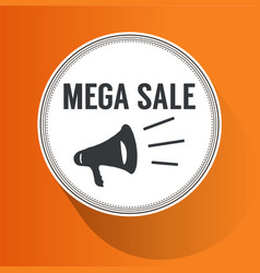 mega sale paper folding design vector image