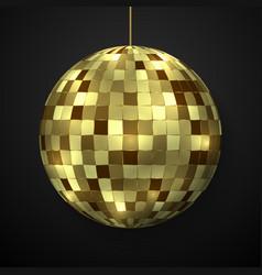 mirror disco ball isolated vector image
