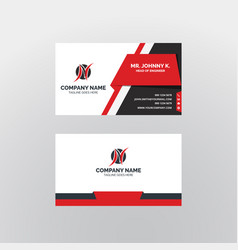 Modern business card templates vector