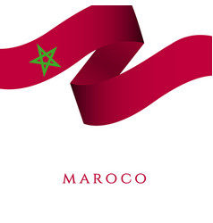 Morocco independent day template design vector