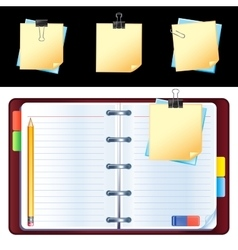 open personal organizer vector image
