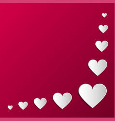 paper origami hearts poster happy valentines day vector image