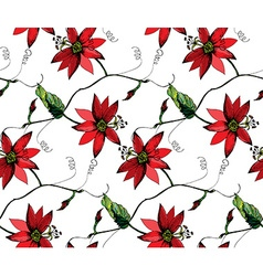 Passiflora pattern2 vector image