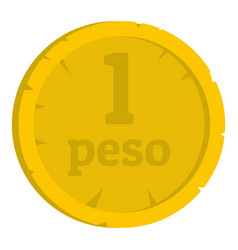 Peso icon isolated vector