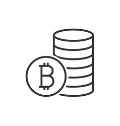pile of bitcoin coins icon vector image