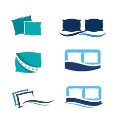 Pillow icon design vector