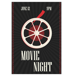 Poster or flyer template for motion picture vector