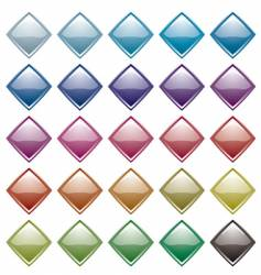 rainbow diamond variation vector image
