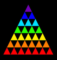 Rainbow triangle consisting of many small vector