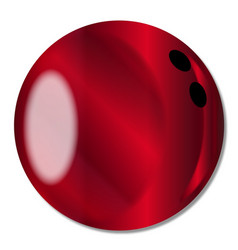 Red bowling ball vector