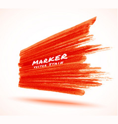 red marker stroke stain background in perspective vector image