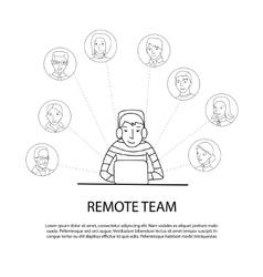 Remote team concept vector image