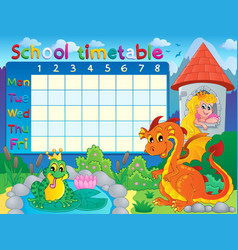School timetable thematic image 4 vector