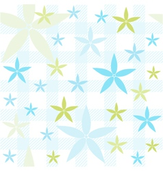 Seamless floral pattern wallpaper vector image