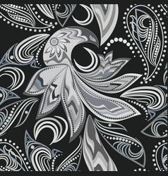 seamless gray ethnic pattern vector image