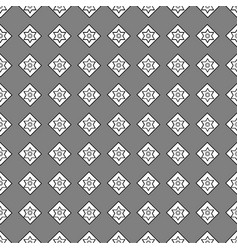 Seamless pattern of geometric shapes on a dark bac vector