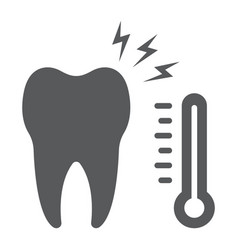 Sensetive tooth glyph icon stomatology vector