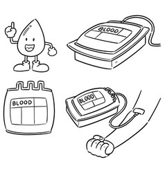 set blood donation vector image
