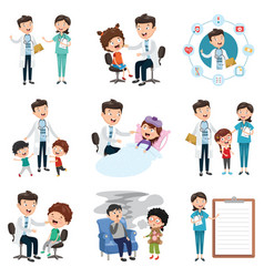 set of medical and healthcare vector image