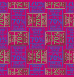 Seventy percent discount seamless pattern vector