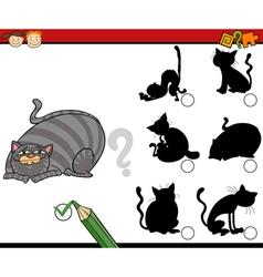 Shadows task cartoon with cats vector