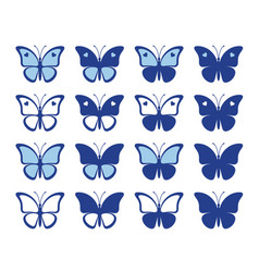 shapes nice butterflies vector image