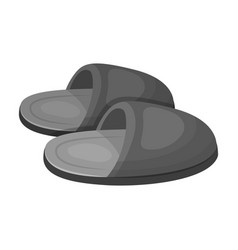Slippersold age single icon in monochrome style vector