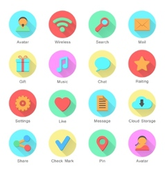social media icons set with inscriptions vector image