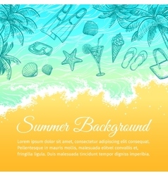 Summer sea background vector image vector image