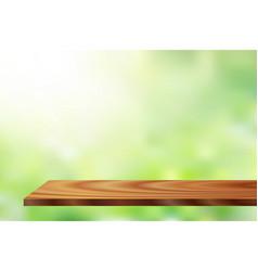 Sunlight wood shelf vector