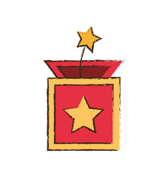 Surprise box star april fools image vector