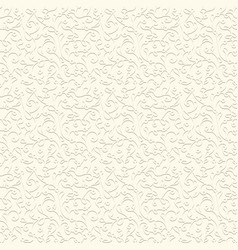 vintage swirly pattern in pale color vector image