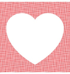 White Heart on canvas texture vector image vector image