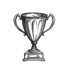 winner trophy award win winning champion symbol vector image