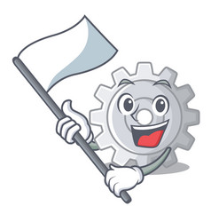 with flag gear icon cartoon the design best vector image