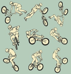 BMX Free style sport collection vector image